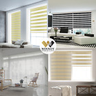 B&C Double Roller blind Zebra shade Home Window blind Custom made to order