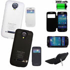 3000mah External Backup Battery Charger Clip Case F Samsung Galaxy S4 Mini i9190