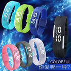 Unisex Girls Boys Rubber Red LED Watch Date Sports Bracelet Digital Wrist Watch