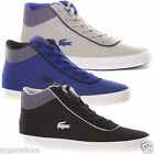 Lacoste Men's LEROND MID TCM SCM Canvas Leather High Top Trainers - All Sizes