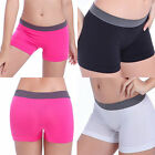 Seamless Stretch Shorts Solid Colors Spandex Workout Basic Plain Tight Yoga Gym