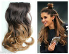 Xmas Gift , Synthetic Thick Ombre Clip in Hair Extensions, Black Brown Blonde