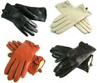 Ladies Womens Premium Quality Real Soft Leather Gloves Fur Lined Warm Bow Detail