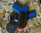 Fits Glock 43 9mm - Leather Avenger Professional Holster, OWB