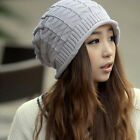 New Knit Women Winter Baggy Beanie Oversize Warm Hat Ski Slouchy Chic Cap Skull
