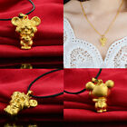 Original 3d Gold Plated Cute Animals Chinese 12 Zodiac Pendant Birthday Gifts