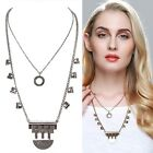 Women's Fashion Vintage 2-Layered Geometry Antique Silver/Antique Gold Necklace