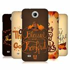 HEAD CASE DESIGNS THANKSGIVING TYPOGRAPHY HARD BACK CASE FOR HTC PHONES 3