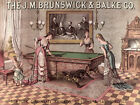 Quality POSTER.Victorian Ladies women play Pool table game.Design art.v1879 $27.0 USD on eBay