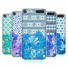 HEAD CASE DESIGNS FLORAL BLUE HARD BACK CASE FOR APPLE iPOD TOUCH MP3