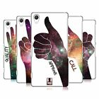HEAD CASE DESIGNS HAND GESTURE NEBULA HARD BACK CASE FOR SONY PHONES 2