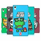 HEAD CASE DESIGNS NERDY TOON ANIMALS HARD BACK CASE FOR SONY PHONES 2