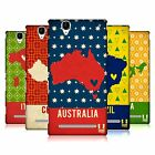 HEAD CASE DESIGNS PRINTED COUNTRY MAPS HARD BACK CASE FOR SONY PHONES 3
