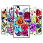 HEAD CASE DESIGNS WATERCOLOURED FLOWERS HARD BACK CASE FOR SONY PHONES 3