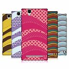 HEAD CASE DESIGNS WAVE PATTERN HARD BACK CASE FOR SONY PHONES 3