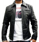 Original RTX SAINTS ROW Current Style Classic Black Real Leather Biker Jacket