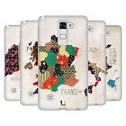 HEAD CASE DESIGNS PATTERNED MAPS SOFT GEL CASE FOR LG PHONES 3