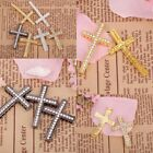 4 pcs Silver/Golden/Black Crystal Cross Connectors For jewel Making Bracelet DIY