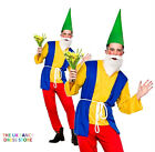 Adult Funny Gnome Mens Fancy Dress Costume Garden Figuerine Panto Stag Party