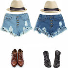 Vintage Women Girls High Waist Shorts Jeans Ripped Hole Short Jeans Shorts S-XL