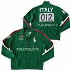 New Polo Ralph Lauren Big Pony Italy Flag Track Jacket Green XXL