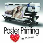 Satin / Gloss Large Colour Posters printing A0 A1 A2 A3. Printed Poster Service