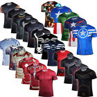 Mens Superhero T-Shirts Compression Base Layer Sports Gear Tops Cycling Jersey