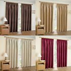 Thermal Block Out Tape Top Modern Curtains Available In Brown, Cream, Gold, Red