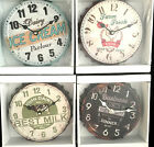 Metal Bottle Cap Top Kitchen Diner Clock Vintage American Retro Style 4 Designs