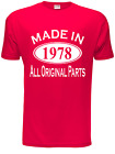 40th Birthday Made in 1976 Mens Gift Unisex T-Shirt  Size S-XXL