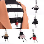 Doll Pendant Necklaces Bead Dress Long Chain Handmade Jewelry For Lover Gift New