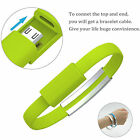 Mini Micro USB 2.0 Data Sync Charger Wrist Bracelet Shape Cable For Cell Phone