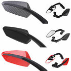 Pair Angled Motorcycle Motorbike Scooter Rear View Mirrors 8/10mm Thread