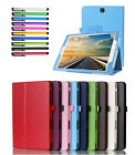Wake Up / Sleep Smart Stand Folio Wallet Leather Case Cover For Samsung + Stylus
