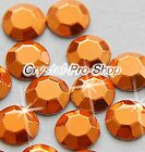 Orange ( Any Size ) hot fix Iron On Faceted rhinestuds Shine 6ss 10ss 16ss 20ss