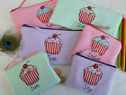 Personalised Girls Cupcake Purse/Wallet or Pencil Case Word and Colour Choice