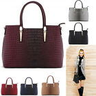 Ladies New Faux Leather Animal Print Tote Bags Women's Handbags Fashion Desinger