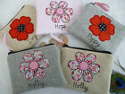 Personalised Flower or Poppy Coin Purse Choice of wording & design Mother's Day