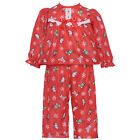 Laura Dare Red Christmas Stocking Lace Pajama Set Little Girl 2T-6X