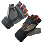 Men Weight Lifting Gym Fitness Workout Training Exercise Half Gloves