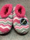 Snoozies Women's Slippers  Multi Chevron 3 Asst Sizes