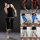 3/4 knee Mens Jogger Shorts Loose Casual Gym Harem Thin Pants Trousers Sportwear