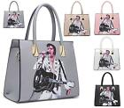 LADIES ELVIS PRESLEY ON TOUR LEATHER STYLE TOTE HANDBAG WOMENS SHOULDER BAG