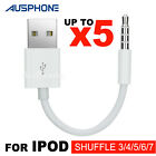 USB Data Sync Charger Cable Adapter 3.5mm for Apple iPod Shuffle 2nd 3rd 4th 5th