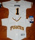 Pittsburgh Pirates Cool Base MLB Majestic Infant Replica Jersey add name number