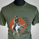 Blazing Saddles Cult Retro Movie T Shirt Funny Joke Here Comes Mongo Green
