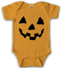 pumpkins for halloween faces - Baby Pumpkin Face Halloween JackOlantern Bodysuit Creeper for Infants