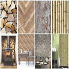 MODERN WOODEN WOOD WALLPAPER FEATURE WALL / WHOLE ROOM VARIOUS DESIGNS AVAILABLE
