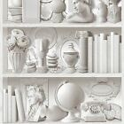 Bookcase Pattern Wallpaper White, Natural Feature Wall Various Designs Free P+p