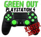 GREEN OUT Master Modded PS4 Controller, Works all games COD Black OPS 3 AW BO2